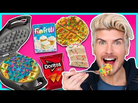 Download Youtube: I TRIED WAFFLING RANDOM FOODS!