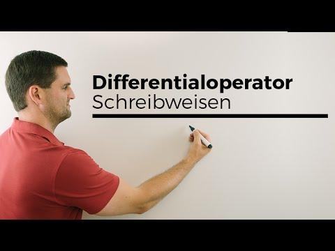 Differentialoperator, Schreibweisen in der Praxis, Beispiele | Mathe by Daniel Jung