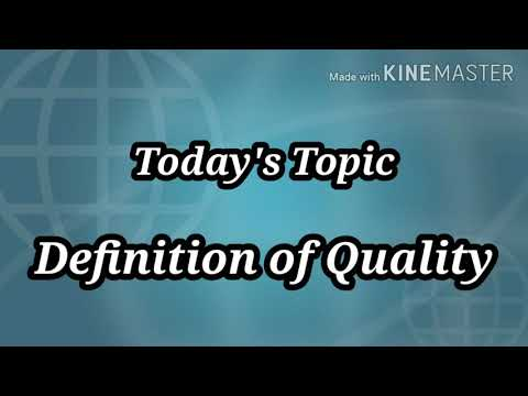 10. Definition of Quality|| How can we define quality? || Different definitions of Quality