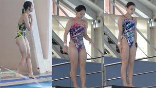 고소공포 극복한 다이빙부 여학생들