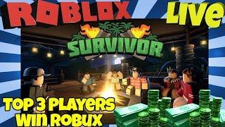 🔴 Roblox Survivor LIVE 🏝️💰 Winners Get Robux!