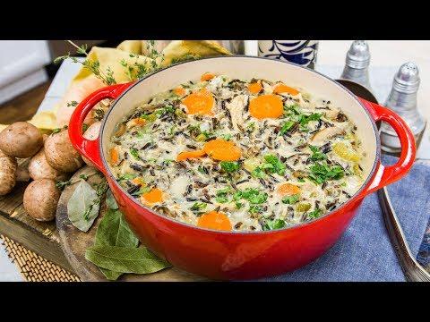 Chicken and Wild Grain Butternut Squash Soup