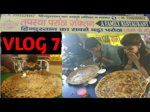 India Biggest Paratha Challenge | 1.25 kg 24 inch | vlog | Guess who wins?
