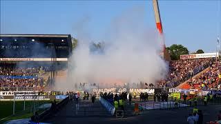 Baden Pokal | Karlsruher SC - SV Waldhof Mannheim 4:0 (1:0) Choreo und Pyrotechnik | 18.04.2018