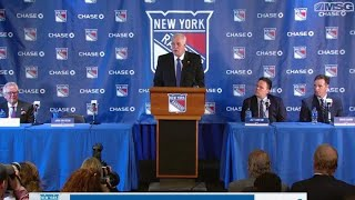 Full Press Conference Introducing John Davidson as New York Rangers President