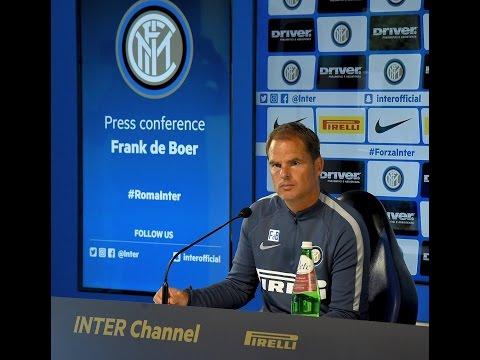 Live!  Conferenza Stampa Frank de Boer prima di Inter-Cagliari 15.10.2016