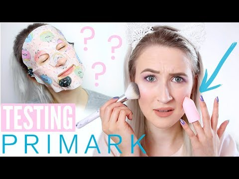 Testing NEW Primark Beauty (Makeup, Skincare, Brushes, Nails) | Sophie Louise