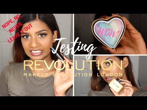 TESTING MAKEUP REVOLUTION PRODUCTS | IM QUITE SHOOK