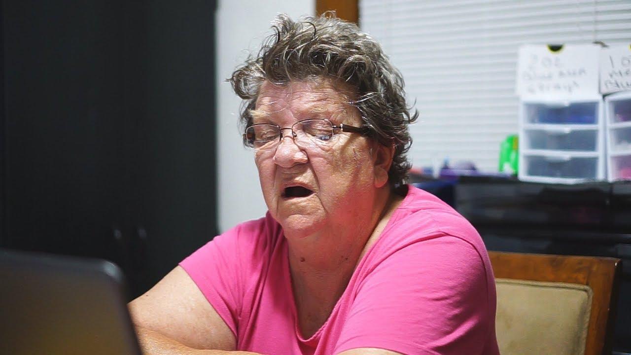 Angry Porn Pics angry grandma reacts to porn prank! - youtube