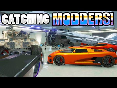 GTA 5 ONLINE MODDERS STEALING CASH $$$ - GTA 5 CATCHING MODD