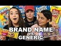 Brand Name vs Generic Challenge - Merrell Twins ft. Molly Burke