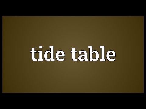Tide table Meaning