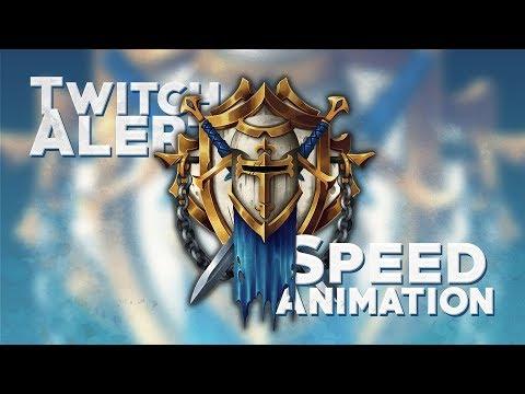 TWITCH ALERT - SPEED ANIMATION (Alderiate)