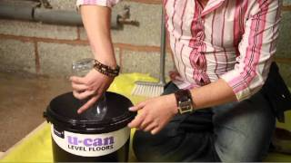 How To Level An Uneven Floor  //  U-can Flexible Floor Leveller