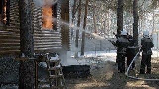 В Энергодаре в жилом коттедже произошел сильный пожар