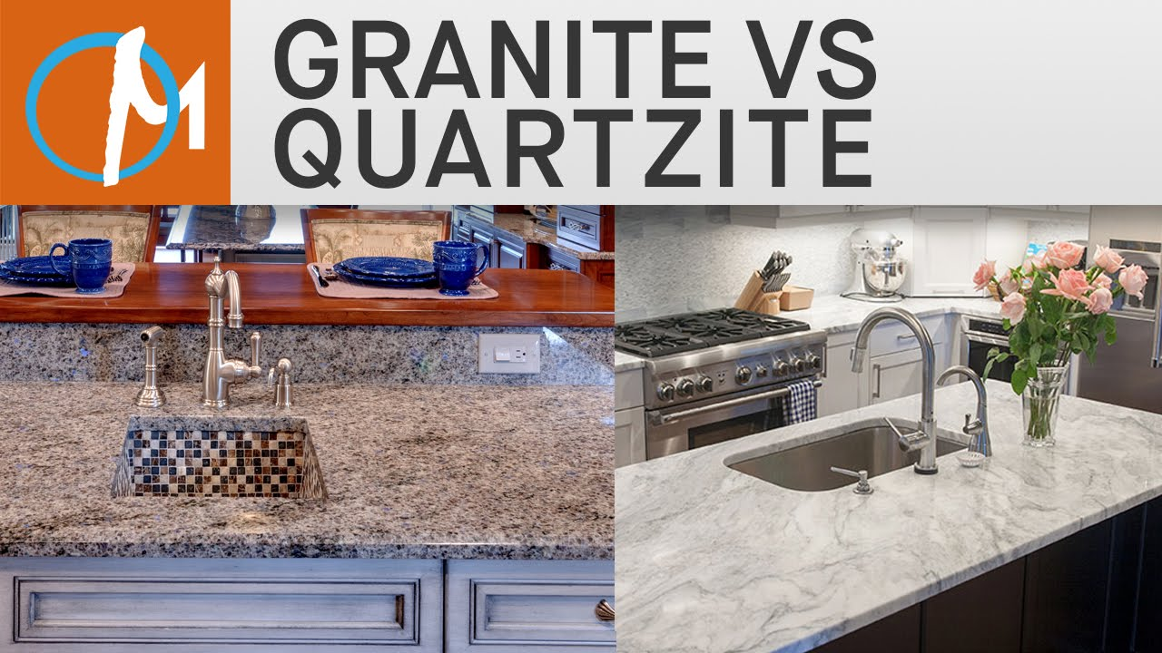 Marble Vs Granite Kitchen Countertops Granite Vs Quartzite Countertops Marblecom Youtube