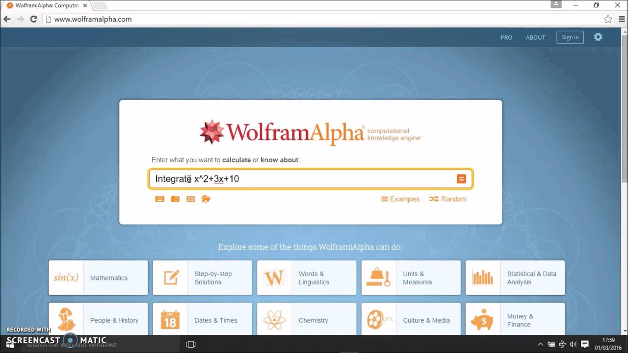 Wolfram Alpha Integral Definite Step By | Frameswalls org