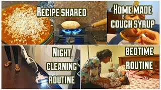 NIGHT Time Routine with 2 Toddlers | Cleaning and Cooking | Homemade Cough Syrup Recipe Shared!