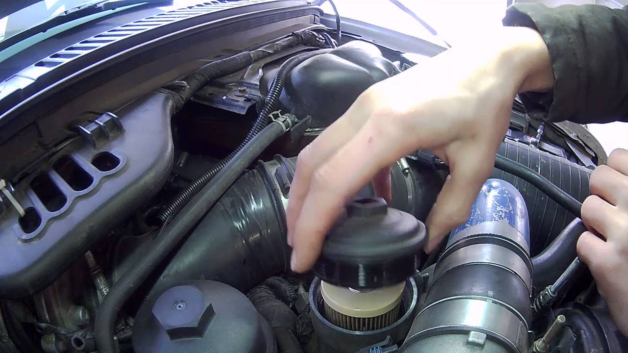 6 0 powerstroke fuel filter cap [ 1280 x 720 Pixel ]