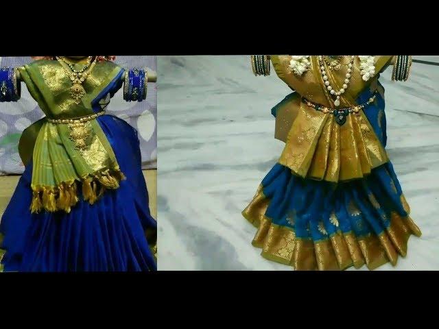 Easy 2 methods of varalakshmi ammavaru saree alankarana ideas// varalakshmi vratam amma decoration
