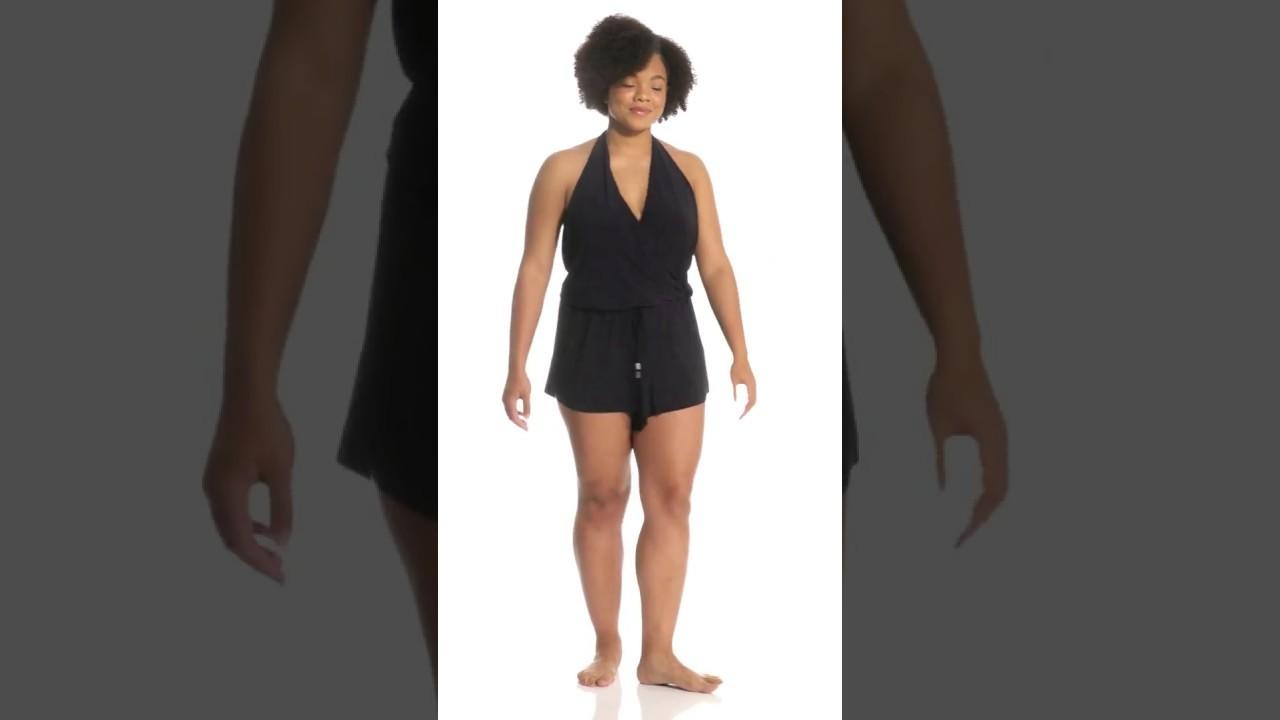 756a3583a35 Magicsuit by Miraclesuit Plus Size Bianca Swim Romper   SwimOutlet.com