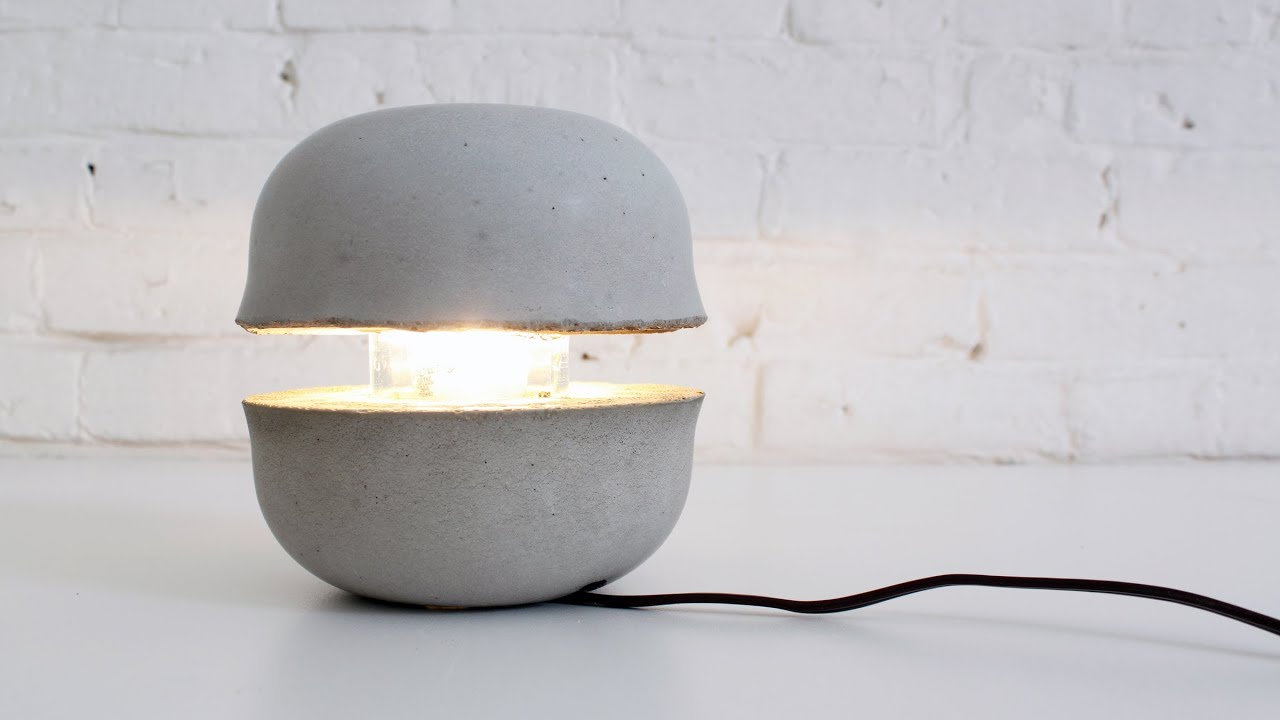 Learn How To Make A Concrete Lamp Youtube