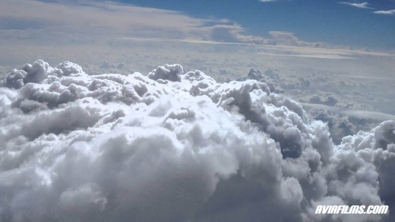 flying into clouds above