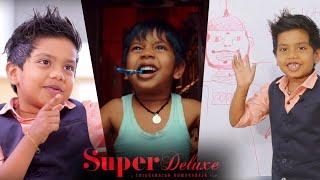 """CUTE ROCKSTAR"" Ashwanth Enacts Vijay Sethupathi's Huge Dialog in Super Deluxe"