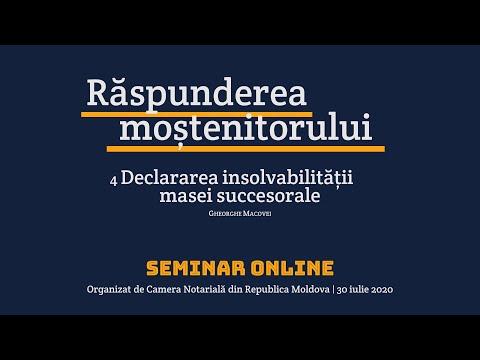 Gheorghe Macovei — Insolvabilitatea masei succesorale (MD)