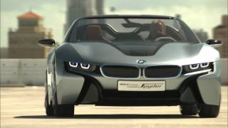 bmw i8 spyder concept driving footage