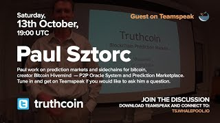 Whalepool Interview: Paul Sztorc of truthcoin talk on bitcoin sidechains, drivechains oct/2018