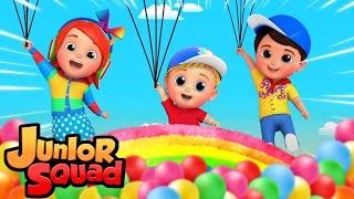 баллонная песня | стихи для малышей | мультфильмы | Junior Squad Russia | детский сад