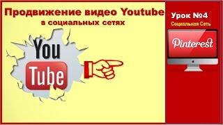 Pinterest|Социальная сеть|Виртуальная витрина|Урок№4. Продвижение видео Youtube в социальных сетях
