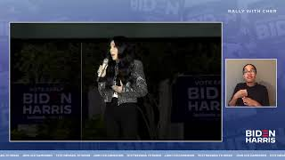 Cher LIVE at Rally in Las Vegas | Joe Biden for President 2020