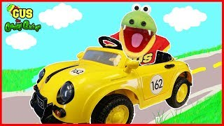 Unbox, Race, and Play test driving Race Car Power Wheels Ride On!