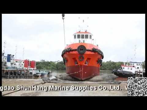 Qingdao ShunHang Marine Airbag used for Ship Launching