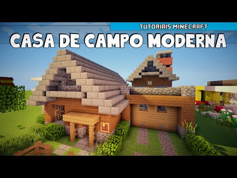 Minecraft como construir uma casa de campo moderna parte for Casa moderna de campo