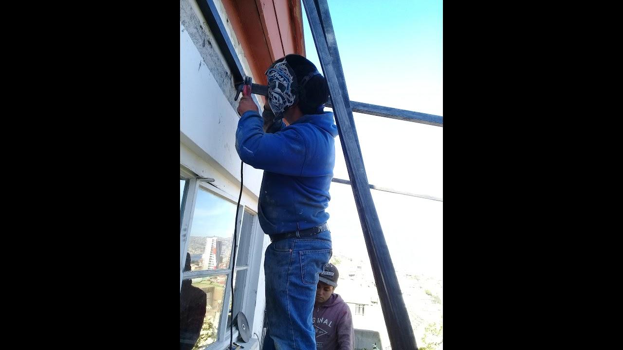 Construcción De Terraza Con Estructura Metálica Youtube