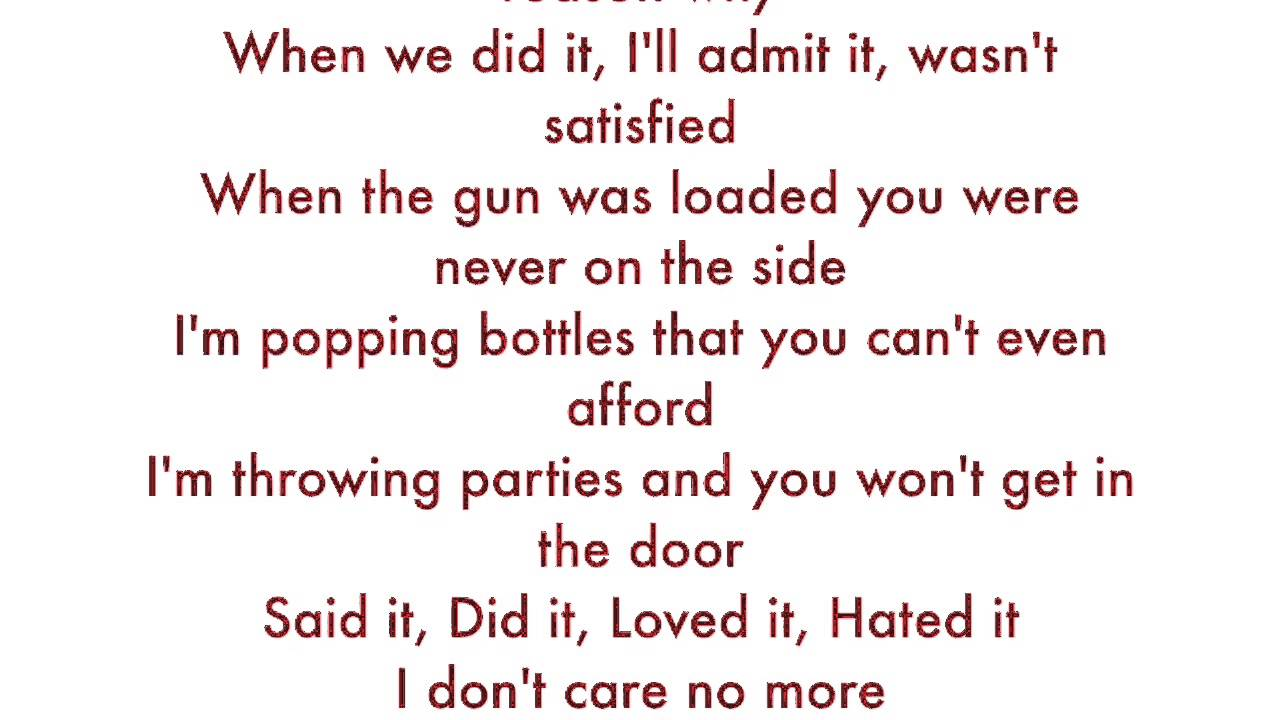 Trina hit that bitch with a bottle lyrics
