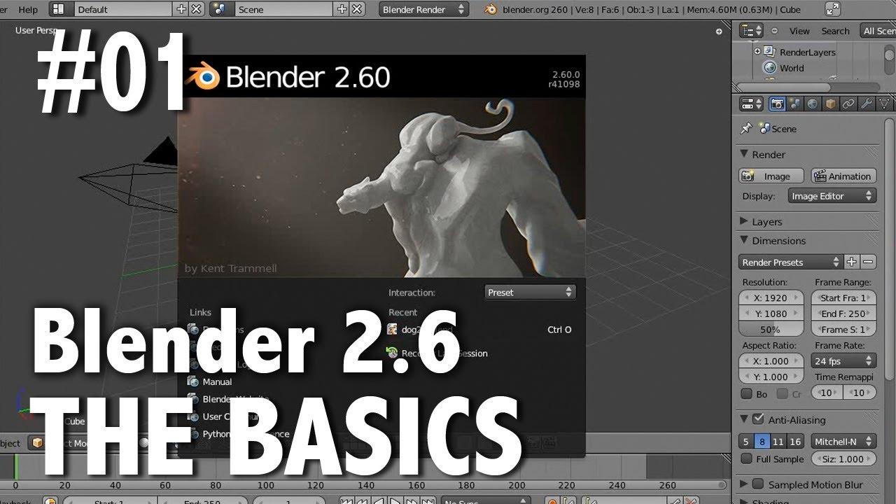 Blender 2.6 Tutorial 01 - The Basics