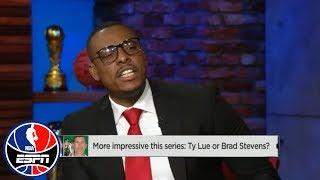Chauncey Billups and Paul Pierce get into it over Brad Stevens vs. Tyronn Lue | NBA Countdown | ESPN