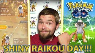 SHINY RAIKOU RAID DAY!!! Pokemon GO