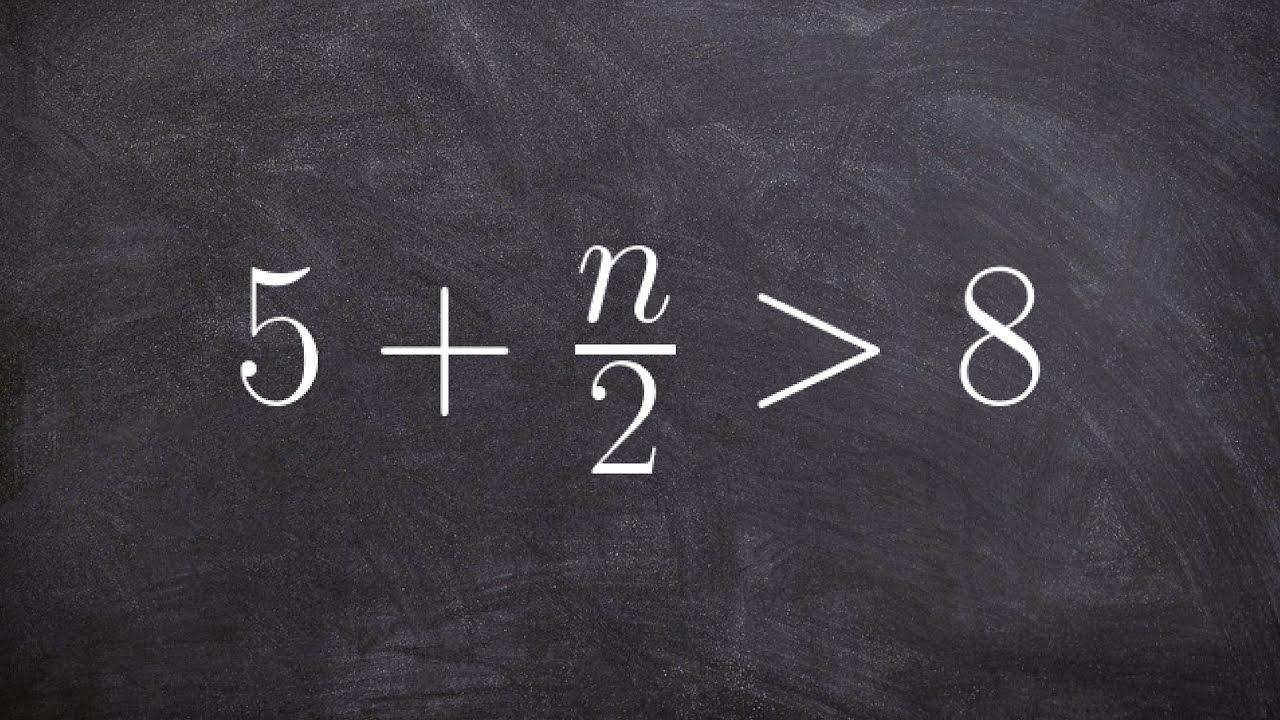 Algebra 1 - Solve using two step method inequality- learn math ...