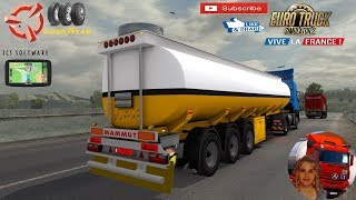 Euro Truck Simulator 2 (1.35)   Mammut trailer Fuel tanker iranian Ownable Trailer Volvo FMX Geneve to Lyon Vive la France DLC by SCS Software + DLC's & Mods https://ets2.lt/en/mammut-trailer-5/  Support me please thanks Support me economically at the mai
