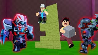 ROBLOX: OLD MAN AND AUNT GRACE DEFEND THE CASTLE OF EVIL ROBOTS! (Build and Survive!)
