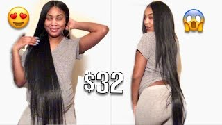 40 INCH WIG FOR $30! | Harlem125 Synthetic Lace Front Wig LSD90