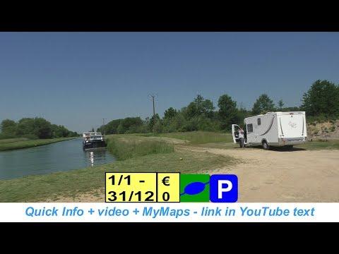 E44-N43-A34-🅿🚐Pont a Bar.  Aire de camping-car