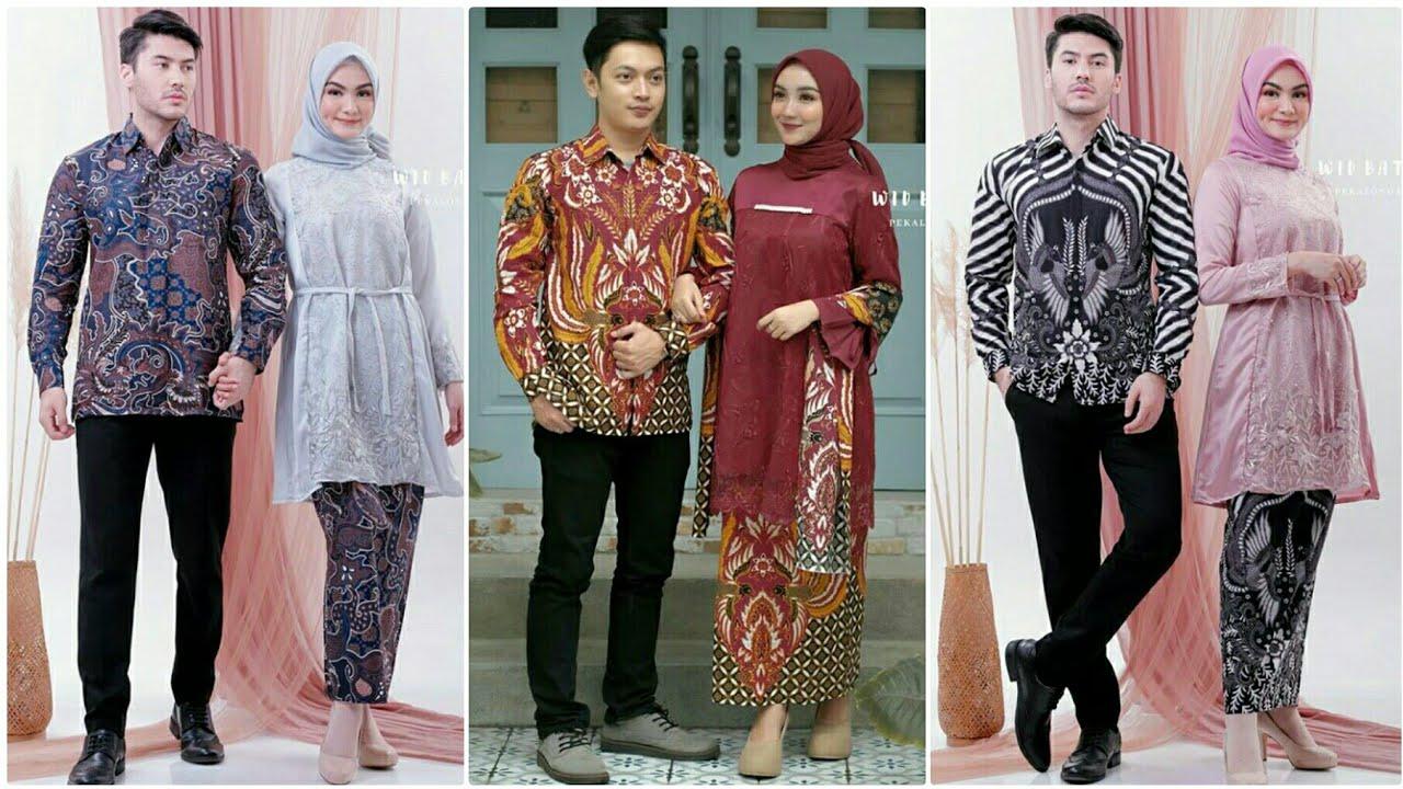 Model Baju Batik Couple dengan Kebaya Terbaru Untuk Pesta Pernikahan  Kondangan 12/12