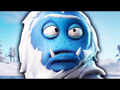 BLUE HAIRY CROSS EYED YETI SKIN