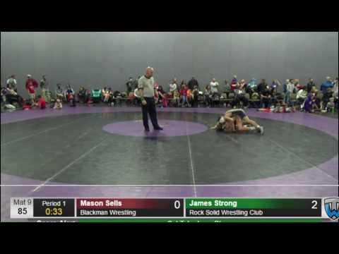 5   James Strong Rock Solid Wrestling Club vs Mason Sells Bla